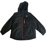 Gerry Full Zip Ski/Snowboard Jacket Youth Med(10-12) Black Removable Hood