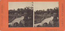STEREOVIEW PHOTOGRAPH OF THE TERRACE IN CENTRAL PARK - NEW YORK CITY, NY
