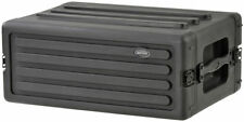 """SKB 4 Space Effects Rack Road Case 10.7"""" Deep DJ Wireless System or Guitar Case"""