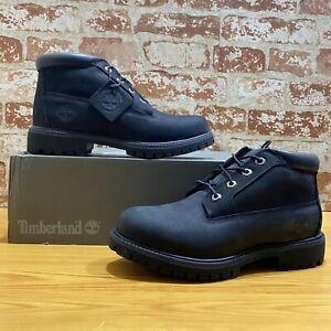 Timberland Men's Nelson BLACK Nubuck Premium Chukka Waterproof 032085 Size 8M