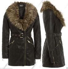 Faux Leather Outdoor Biker Jackets for Women