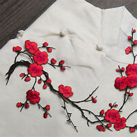 Blossom Flower Applique Clothing DIY Embroidery Patch Sticker Iron On Sew Cloth