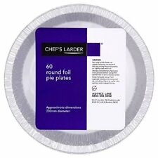 Chef's Larder 60 Round Foil Pie Plates 203mm