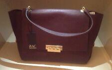 "NWT Elegant Zac Posen Satchel Bag/""Eartha"" Burgundy Retail $495"