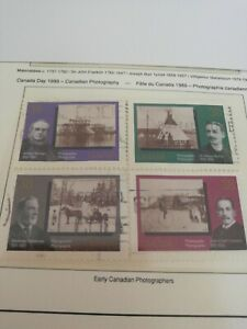 Canada Stamps Canadian Photography 1989 Heavily hinged Now 99p