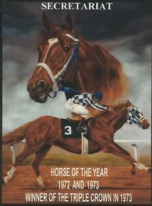 "1973  - SECRETARIAT - Horse Of The Year - 1972 & 1973 & Triple Crown - 8"" x 10"""