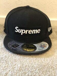 Supreme Gore-Tex New Era 2013 Box Logo Fitted Hat 7 1/2 Cap Black White Red RARE