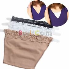 3 Pieces Women Girl Lace Trim Cami Secret Clip Anti Bra Strap Cover Fashion