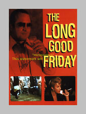 "THE LONG GOOD FRIDAY PP SIGNED POSTER 12X8"" BOB HOSKINS"