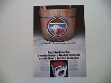 advertising Pubblicità 1970 LAVATRICE REX DL 5