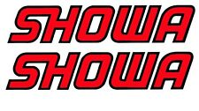 SHOWA fork decal stickers X2 PAIR MX Trials Road Race Sports Bike Honda Ducati