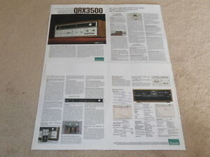 Sansui QRX-3500 Quad Empfänger Prospekt, 4 Pg , Info, Brille