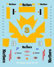 F1 DECALS MUSEUM COLLECTION D468 1/43 FOR TOYOTA RT3 SENNA MACAU