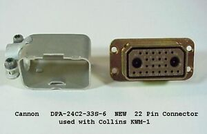 Collins KWM-1  22 pin Female P1 Plug for 516F-1 P/S NEW