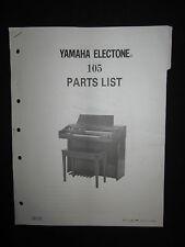 Yamaha Electone Electric Organ 105 Parts List Manual Keyboard DEALER
