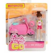 New, Barbie on the Go, Motorized Doll and Pink Scooter