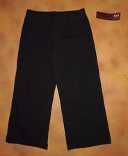 NWT Dance Bloch Black Capri Pants Cotton Spandex Girls Int Child 6X-7 CP3953