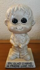 R & W Berries Co's Figurine Boy I'm Glad I Have A Friend Like You 1972 Vintage