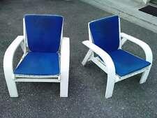 2 fauteuils jardin design 50/60 style pierre dariel arm chair garden wood