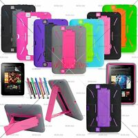 Hybrid Case Rugged Stand Shockproof Hard Cover for Amazon Kindle Fire HD 7 8