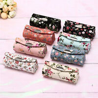 Lipstick Case Retro Embroidered Holder Flower Design With Mirror Packaging JR