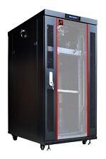 "27U 35"" Deep 19"" IT Free Standing Server Rack Cabinet Enclosure + Bonus Free !!"