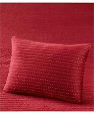 Martha Stewart STANDARD Pillow Sham Velvet Channel Stitch RED D02026