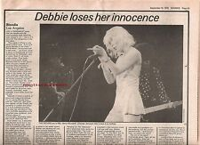 BLONDIE LA Forum concert review 1979 UK ARTICLE / clipping