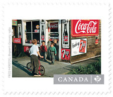 CANADIAN PHOTOGRAPHY SOUVENIR SHEET #2 IN SERIES - 4 STAMPS 2014 COCA COLA 7UP