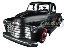 "1950 CHEVROLET 3100 PICKUP TRUCK MATT BLACK ""OUTLAWS"" 1/25 MODEL BY MAISTO 32506"