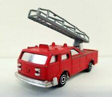 MAJORETTE SONIC FLASHERS LADDER TRUCK Vintage Red Die-Cast Fire Engine