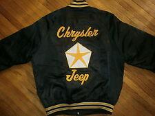 vtg 70s 80s JEEP CHRYSLER WORKER NYLON COAT Factory Plant Kenny Patch Jacket MED