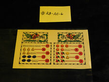 MILLS AWARD CARD FOR  AN EARLY ANTIQUE SLOT MACHINE #28-AC-6