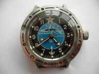 Vintage Watch VOSTOK WOSTOK  KOMANDIRSKIE AMPHIBIAN, SOVIET/USSR, RUSSIA