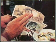 CHRISTIAN PATEY  L'ARGENT ROBERT BRESSON 1983 VINTAGE LOBBY CARD ORIGINAL #1