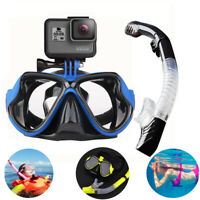 Snorkel Mask Scube Set Diving Swimming Goggles For GoPro Hero Series Camera