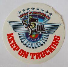 Aufkleber KEEP ON TRUCKING BP Vanelli US Truck Train LKW 80er Jahre Sticker