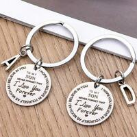 1x To My Son I Love You Forever Inspirational Gift Keychains Father Mother Gifts