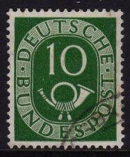 W Germany 1951 Posthorn 10pf Verde SG 1050 Fu