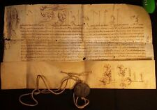 POPE PAUL V BULLA with METAL SEAL LEAD Pope who persecuted Galileo Galilei 1607