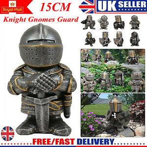 Knight Gnomes Guard Resin Sculpture Ornament Garden Home Decor Templar Gothic=UK