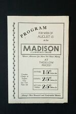 1930s-40s WARNER BROTHERS MADISON LOCAL THEATER HERALD-HOLD YOUR MAN OTHERS