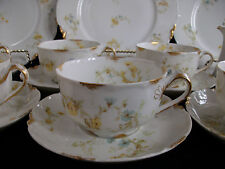 HAVILAND #9196 (c.1907+)  CUP & SAUCER(s)- YELLOW/BLUE FLORAL- RARE! EXCELLENT!