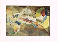 1940s Vintage Andre Mason Jeune Fille Fenetre Abstract Offset Litho Art Print