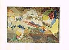1940's Vintage Andre Mason Jeune Fille Fenetre Abstract Offset Litho Art Print
