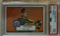 2001 TOPPS HERITAGE #405 MIKE PIAZZA New York Mets PSA NM-MT 9 SP, Low POP!