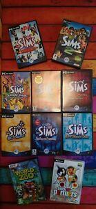 Les Sims 1 & 2 PC + 6 extensions + 2 jeux offerts