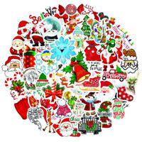 50Pcs Merry Christmas Sticker Gifts for Kids Santa Claus Laptop Skateboard.Decal