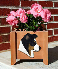 Border Collie Planter Flower Pot Tri