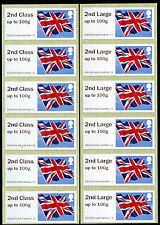 NCR ERRORS 2nd + 2nd LARGE STRIPS OF 6 UNDATED FLAG ERROR FLAGS  POST & GO